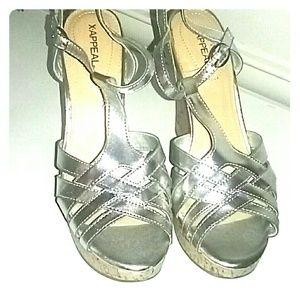 Silver Wedge heel sandal